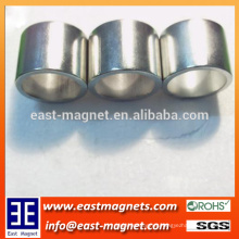 big ring nickle coated ndfeb magnet/neodymium large ring magnet for sale