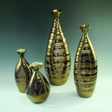 Bom vaso de cerâmica alta cor grande vaso de cerâmica para decoração de flores (h1086)