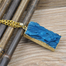 Fashion natural stone Square drusy druzy pendants wholesale