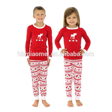 2017 оптом детские хлопок вязать мягкие дети Рождество пижамы