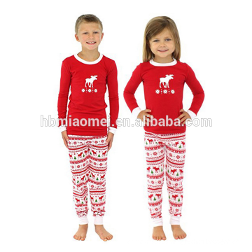 2017 Wholesale baby stripe cotton knit soft sets kids Christmas pajamas