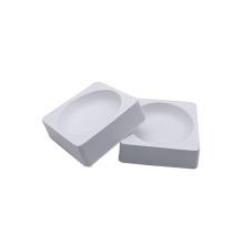 Thermoformen kleiner quadratischer Kunststoffschalen