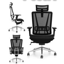 bureau ergonomique patron exécutif maillage complet avec appui-tête chaise confortable