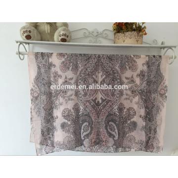 Bufanda del diseñador de la bufanda de la gasa de la impresión de la manera venta al por mayor china
