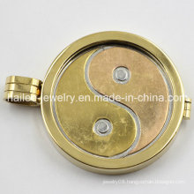 Stainless Steel Coin Disc Floating Locket Pendant Jewelry