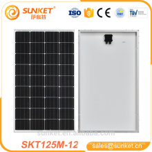 producto solar de la energía 100w 125w mono panel de poder solar precio barato