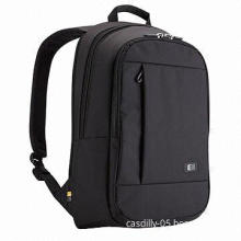 Laptop backpack, over-sized zipper