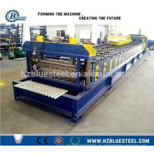 Gewölbte Aluminium-Zinkplatte Dachblech Profil Rollenformmaschine