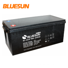 Bluesun deep cyle storage battery 12V 100Ah car battery with ABS shell material for 5kw off grid solar system