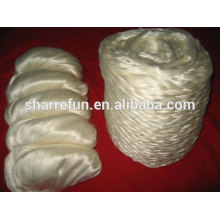 natural color 100% tussah silk fiber sliver