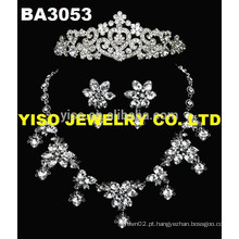 Conjunto de jóias florais da moda bonita
