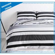 Minimalismo rayas impresas algodón funda de edredón juego de cama