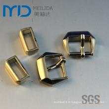 Gold Shinning Zinc Alloy Pin Boucles pour chaussures Vêtements et sacs