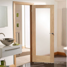 Wooden glazed bathroom door