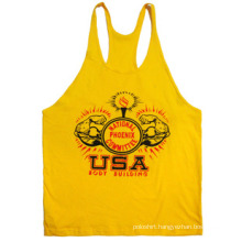 Racerback Plain Gym Tank Tops for Men Y Back Stringer Tank Top Wholesale