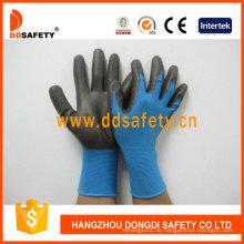 Blaues Nylon mit schwarzem Nitril-Handschuh Dnn816