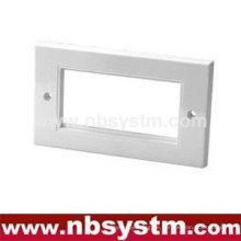 Face Plate 4 Port, UK Typ, Größe: 86x146mm