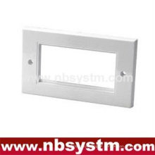Face Plate 4 port, UK tipo, tamanho: 86x146mm