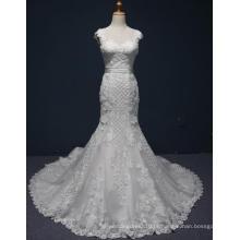 Vestido de noiva nupcial do baile de finalistas de Eevening da sereia do laço da alta qualidade