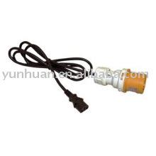 IEC c13 conducir con 110v amarillo 16amp 2P + e Conecte el cable de alimentación estándar de CEE