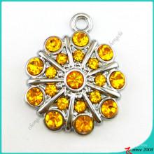 Оранжевый цвет камень цветок прелести Кулон ювелирные изделия (ПДВ)