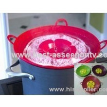 Spill Stopper Smart Kitchen Gadget Hot Sell Silicone Pot Cover /silicone Pot Lids