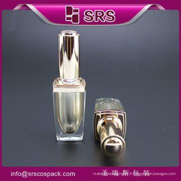 Srs Nouveaux produits bouteille en plastique bouche à ongles utilisation, 8 ml de luxe gel vide onglet japon avec bouchon de brosse
