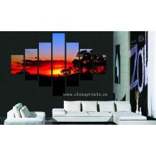 Sunset Scenery Design Peinture / Décoration intérieure Pendentif mural / Belle décoration Peinture murale