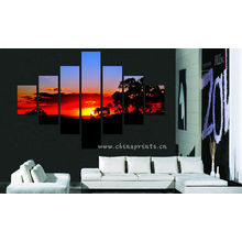 Sunset Scenery Design Pintura / Home Decor Wall Hanging / Beautiful Cenário Wall Painting