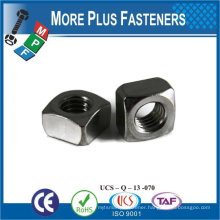 Made in Taiwan M5-0.8 Class 4.6 Zinc Finish Steel Regular Square Nut DIN 557 DIN 562