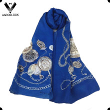 Wholesale High Level Pure Silk Printed Style Chain Watch Scarf