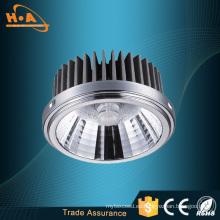 Precio por mayor de aluminio aleación 18W COB proyector AR111 LED