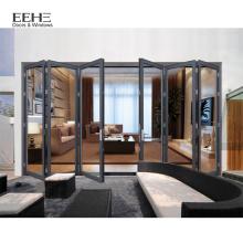 Soundproof Aluminum Profile Folding Accordion Interior Door