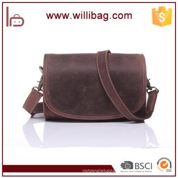 Popular Genuine Leather Messenger Bag For Office Work