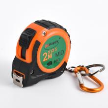 Promotional Rubber Key Tag Tape Measure With Laminated Label