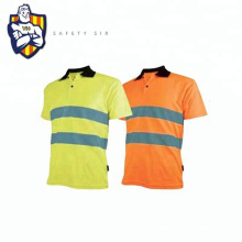 Reflective Polo T shirt, Meet ANSI/ISEA 2010, Fluorescent Polyester fabric and reflective tapes,25 Times Wash,Manufactory