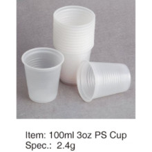 Popular Soft PS Plastic Cup Alta Calidad 3oz / 90ml