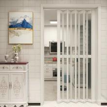 Interior Decoration Plastics Folding Door Wood Plastic PVC Sliding Doors for Bathroom