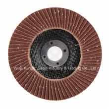 Óxido de aluminio con disco de aleta de cubierta de fibra de vidrio