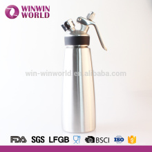Latest style high quality spray whipped cream with rubber 1 pint