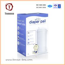 Boîtes d'emballage en papier pliable souples et plaines