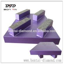 Bloque de cuña de diamante con 4 segmentos rectangulares
