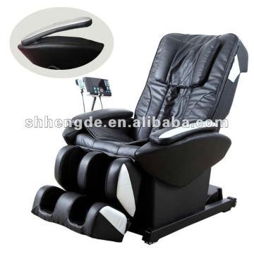 Cadeira de massagem de couro, cadeira de massagem de couro Deluxe, cadeira de massagem de couro 3D