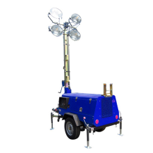 Outdoor Mobile Light Tower for Construction Lighting