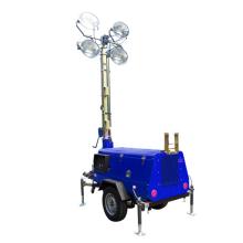 Torre de luz móvel ao ar livre para iluminação de construção