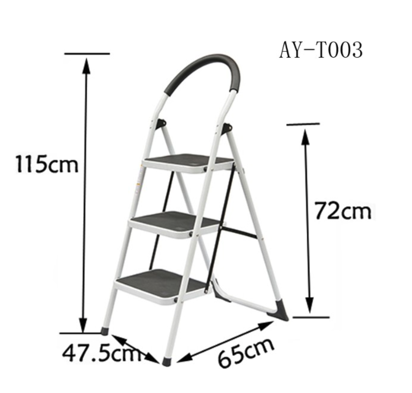 5 steps steel ladder