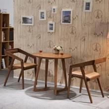 Holzmöbel Wohnzimmer klassische runde Esstisch Massivholztisch