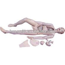 Manequim de enfermagem masculina de alta qualidade ISO para treinamento em cuidados com o paciente