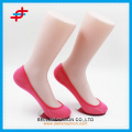 2016 new design colored invisible soft socks for ladies fresh style