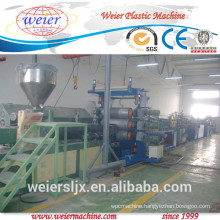 pvc edge banding making machine with hot stamping online, 600mm pvc edge banding production line